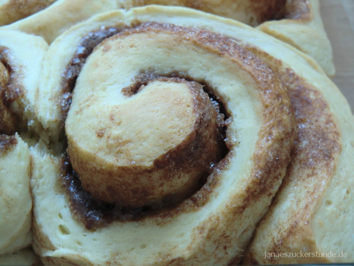 Cinnamon Roll fertig gebacken