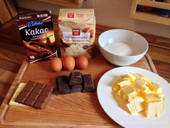 Amerikanische Brownies Zutaten