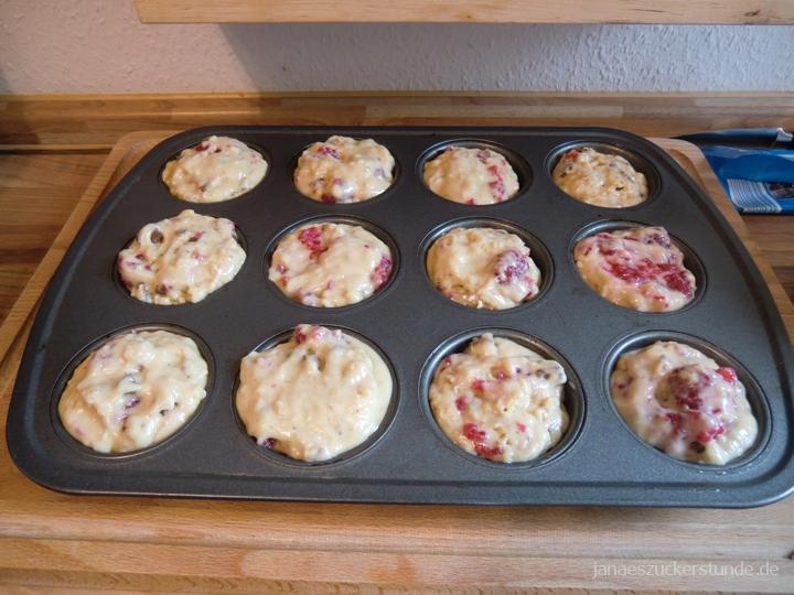 Schoko-Himbeer Muffins - Backform