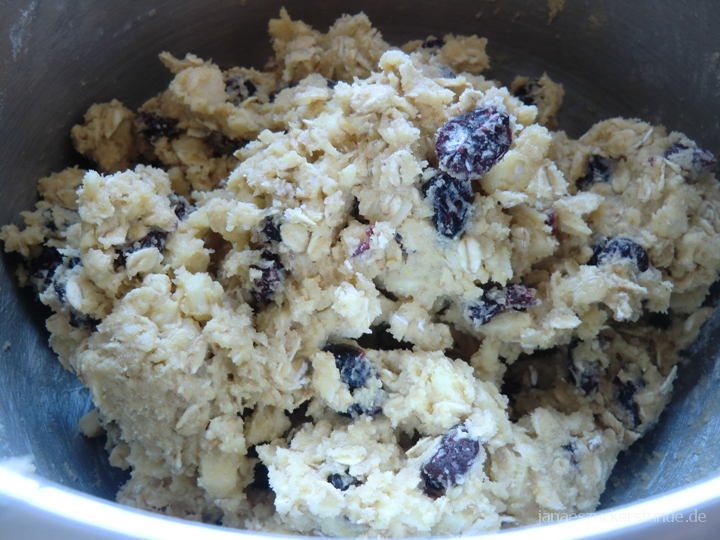 White Chocolate Cranberry Cookie Teig