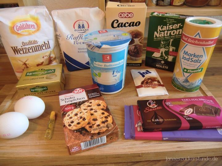 Chocolate Muffins Zutaten