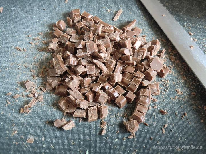 gehackte Schokolade