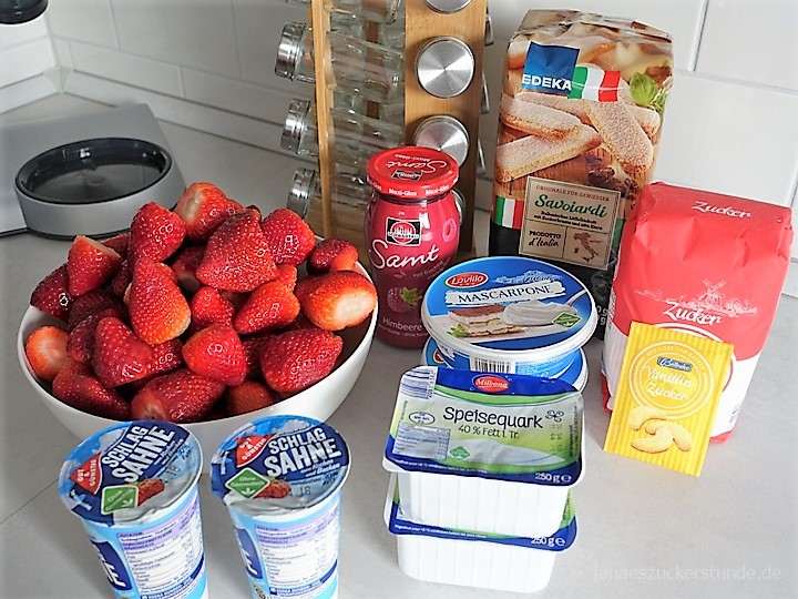 Erdbeer-Trifle Zutaten